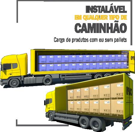 Instalável em qualquer tipo de caminhão - piso móvel