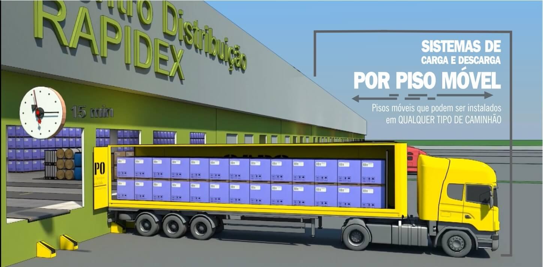Baner inicial - sistema de carga e descarga de caminhão por piso móvel - www.capo.eng.br